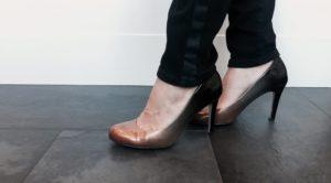 Photos des souliers de Brigitte Coutu