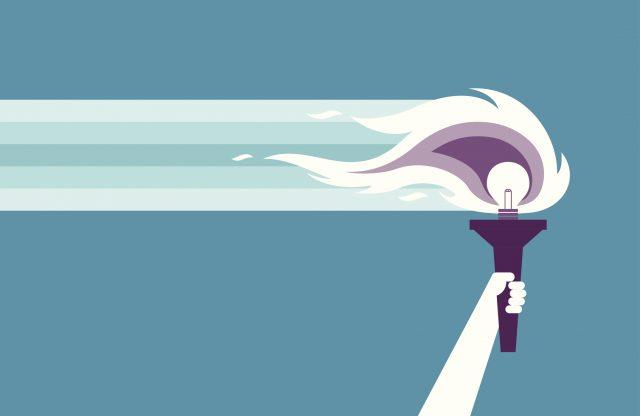 illustration d'une torche olympienne
